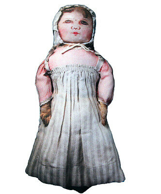 Clombian Lithographed Cloth Doll