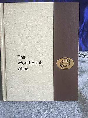 Vintage 1977 The World Book Atlas Rand McNally & Co. Color Maps Of The World