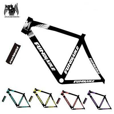 new fundiabl road bike sticker in bicycle frame decals reflective kit fix fixi