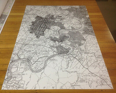 Map of Monongahela River Coal Mines Fayette Washington & Westmoreland County Pa