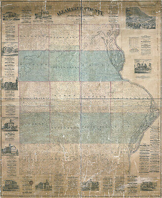 1872 Map of Allamakee County Iowa