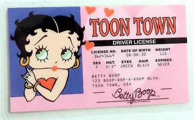 Brand New Betty Boop's DRIVER'S LICENSE