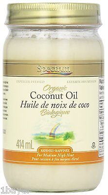 @NEW Spectrum Kitchen Bar Dining Organic Cooking Baking Coconut Oil (414g)
