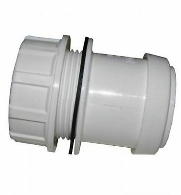 FLOPLAST 40mm White Pushfit Waste Tank Connector