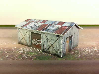 N Scale Building - Weathered Shed  Cardstock kit set WS3
