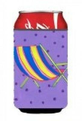 Carolines Treasures LD6141CC Beach Chair Can Or Bottle Hugger. Brand New