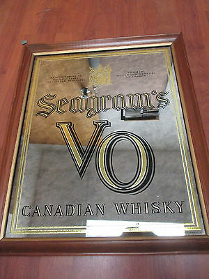 "Vintage Seagram's VO Canadian Whiskey Framed 18"" x 22"" Bar Mirror"