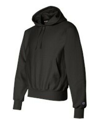 Champion S101 Adult Reverse Weave Pullover Hoodie Black - Large. Free Shipping