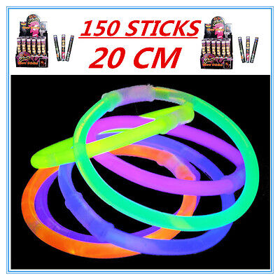 150 X Glow Sticks - Party Wedding Event Birthday Celebrate Concerts Camping Ap