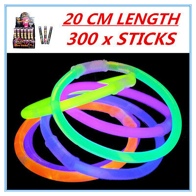 300 X Glow Sticks - Party Wedding Event Birthday Celebrate Concerts Camping Ap