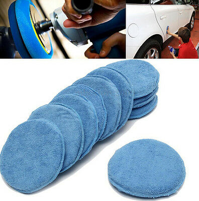 5x Polish Foam Sponge Car Applicator Cleaning Microfiber Waxing Pads Detailing