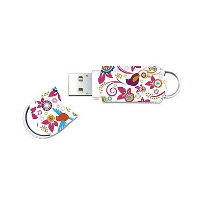 Integral 32GB Birds Flowery Girly Pattern USB Pen Drive Flash Memory BRAND NEW