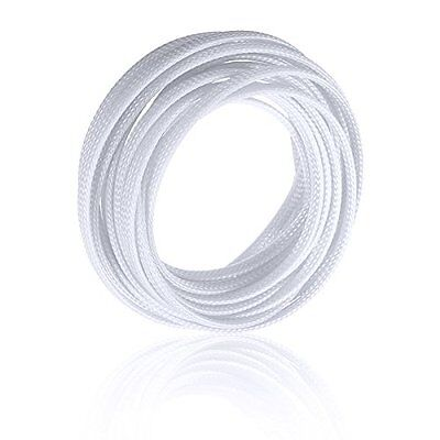5M fabric hose braided hose cable protection cable conduit 4mm white LW