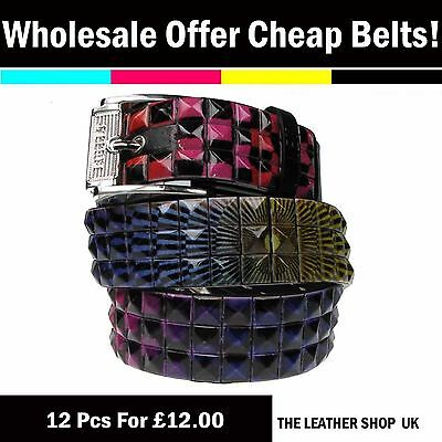 Wholesale Joblot Mixed Sizes Fashion Studded Belt 12 Pcs Clearance Offer PF50