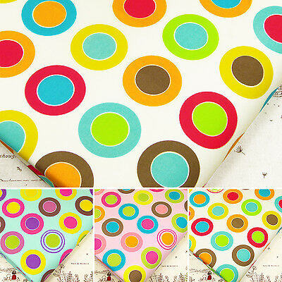 Cotton Fabric per Fat Quarters Vivid Circle Dot Spot Quilt Craft FabricTime VK18