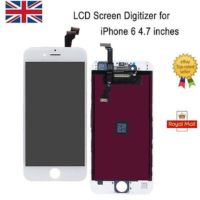 """Replacement LCD Touch Screen and Digitizer Assembly For iPhone 6 4.7"""" White"""