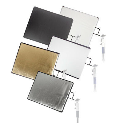 "61x76cm (24x30"") 5in1 Studio Reflector,Diffuser, Gobo Flag Panel Soft Gold White"