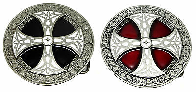 Norse Cross Belt Buckle Red Black Shield Celtic Authentic Dragon Designs Product