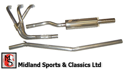 Bss-Mg-320 - Mgb Chrome Bumper -Stainless Steel Sports Exhaust System & Manifold