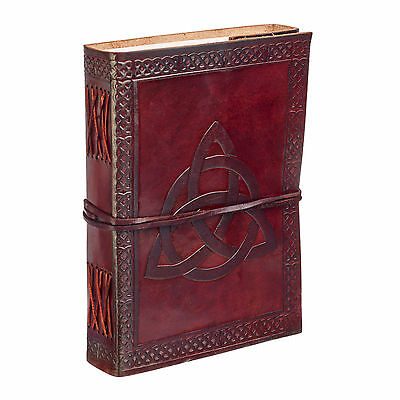 Fair Trade Handmade Celtic Trinity Knot Leather Journal Notebook Diary