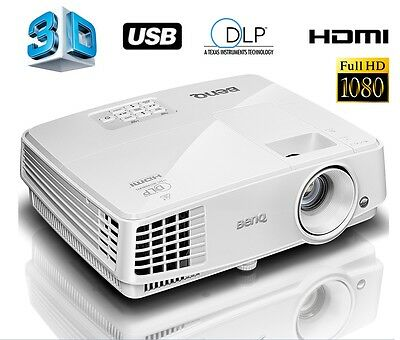 BenQ 3D DLP Projektor Beamer 13000:1 MS527 3300 ANSI Lumen HDMI VGA S-VIDEO USB