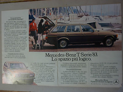 Advertising Pubblicita'  Mercedes-Benz T Serie '83 --  1983
