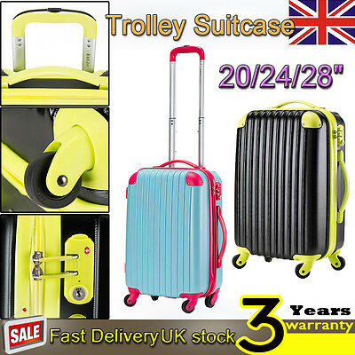 Hard Shell 4 Wheel Spinner Suitcase Set Luggage Trolley Case Cabin Extra Large