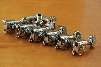 GROVER 305 ROTOMATIC TUNERS 6/L CHROME TUNING MACHINE PEGS CR 6 in a Line STRAT®