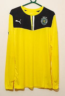 Puma Men's Sporting Lisbon SCP Promo Goalkeeper Football Shirt Yellow Size XL