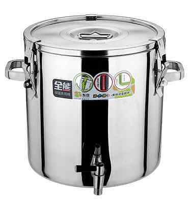 Multi - Purpose 10L heat-preserving Pail - Stainless Steel
