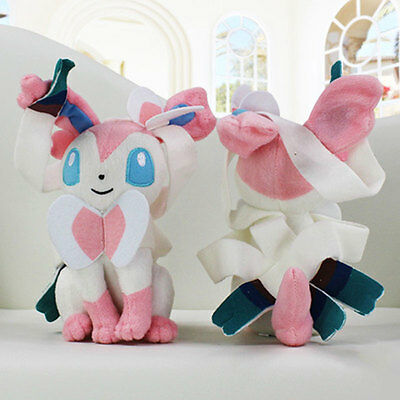 1Pcs Pokemon Monster Sylveon Shape Soft Stuffed Plush Doll Gifts Home For Kid