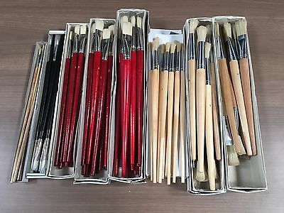 100 artist brushes oils water colours
