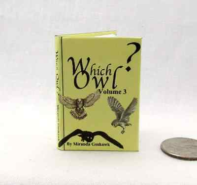 WHICH OWL? 1:6 Scale Readable Illustrated Miniature Book Potter Magic Wizard