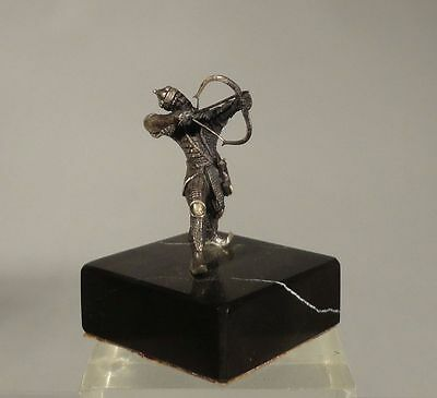 Antique Sterling Silver Figure of Turkish Middle Eastern Ottoman Soldier Archer