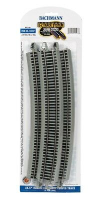 Bachmann HO Scale Nickel Silver/Gray EZ-Track 35.5in Radius 18-Degree Curve (5)