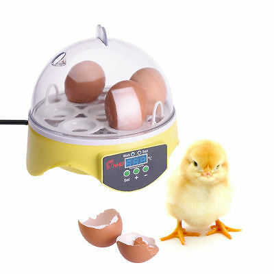 Automatic Digital 7 Egg Turning Incubator Chicken Hatcher Temperature Control RS