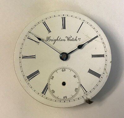 Brighton Watch Co. Pocket Watch Movement for parts or repair