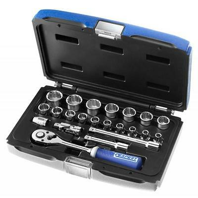 """Britool Stanley Expert 3/8in Square Drive 22pc Socket Set 3/8"""" Ratchet E031805"""