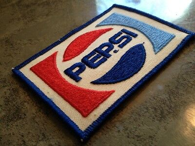 "Pepsi Embroidered Sew On Patch Soda Pacth Unused 3 3/4"" x 2 3/4"""
