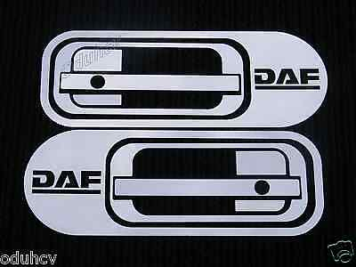 2 Set Stainless Steel Metal Handle Door Covers for DAF XF 95/105 Truck Polished