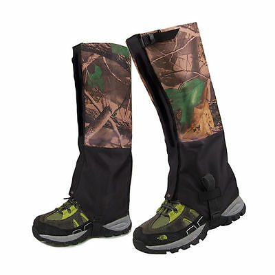 1Pair Waterproof Hiking Gaiters Hunting Walking Snow Chaps Legging Snake Gaiter