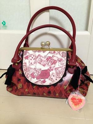 Disney Store limited! Alice in Wonderland Red purse bag tote bag Japan F/S NEW