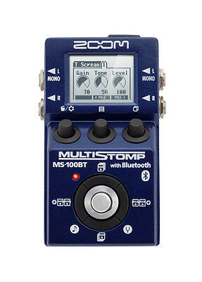 Zoom MS-100BT Guitar Multi Effects Processor w/ Bluetooth - 100 DSP Effects