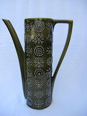 60s Portmeirion Green Totem Tall Coffee Cocoa Pot Lidless Primitive S Williams