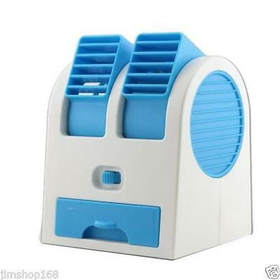 Hot Portable USB Mini Air Conditioner Cooler Fan Dual Bladeless Air Conditioner