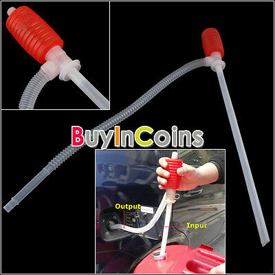 Handy Liquid Fluid Fuel Oil Remover Siphon Manual Suction Pumps For Car Tool