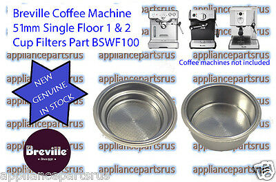 Breville Coffee Machine Single Floor 1 & 2 Cup Filter BSWF100 - NEW - GENUINE