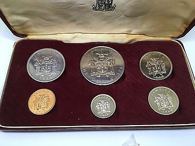 1969 Jamaica Uncirculated 6 Coin Set 100th Anniversary in Case
