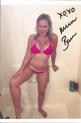 Michelle Baena authentic signed & worn bikini set + signed 5x7 photograph COA