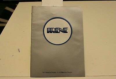 """Irene"" theatre program from 1974"